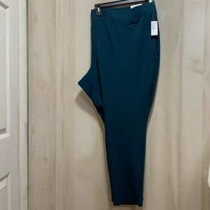 Catherines Pointe Knit Forrest Green Leggings 5X